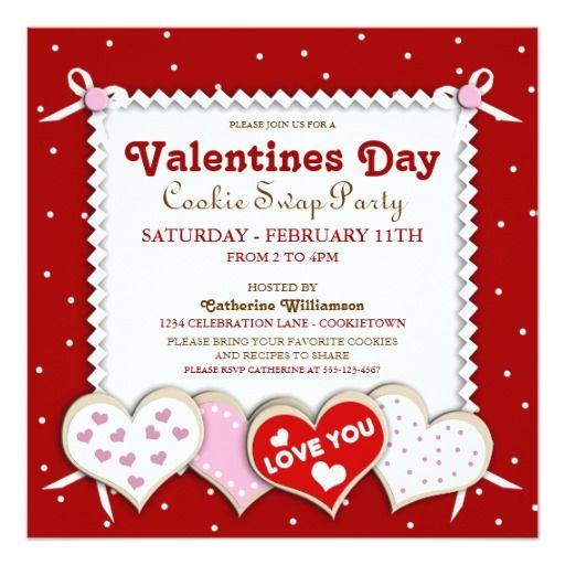 Valentines Day Cookie Swap Party Invitation | Valentine\'s Day ...