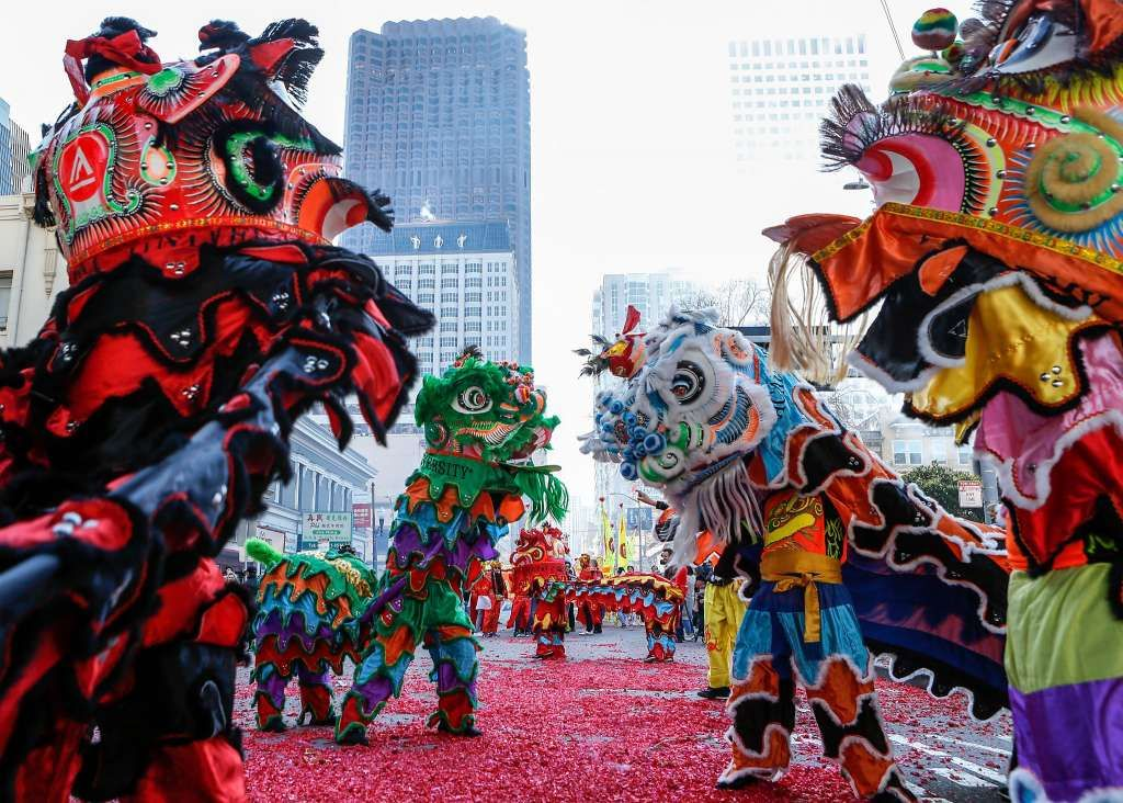 Piglets, firecrackers and dance SF's Chinatown rings in