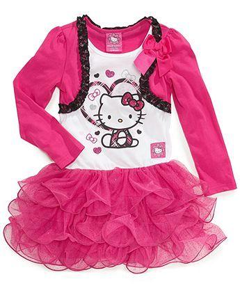 hello kitty kids dress little girls shrug tutu dress kids girls