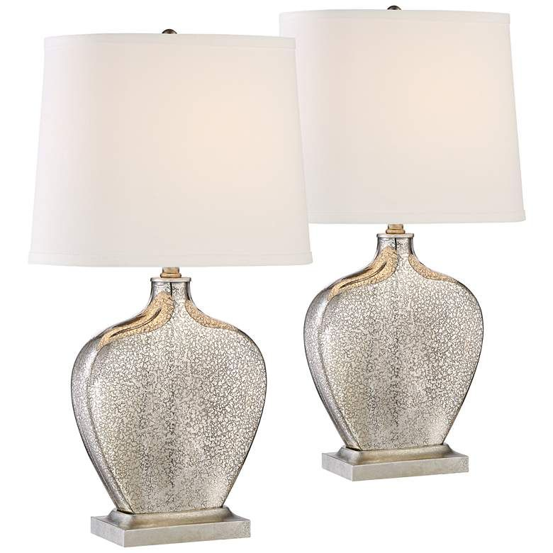 Axel Mercury Glass Table Lamp Set Of 2 9m153 Lamps Plus