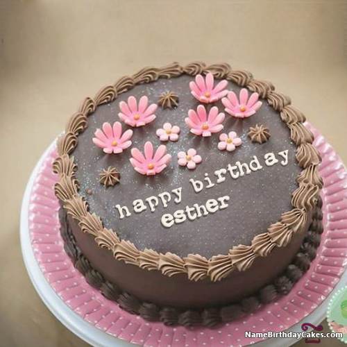 The name esther is generated on Happy Birthday Cake For Son With