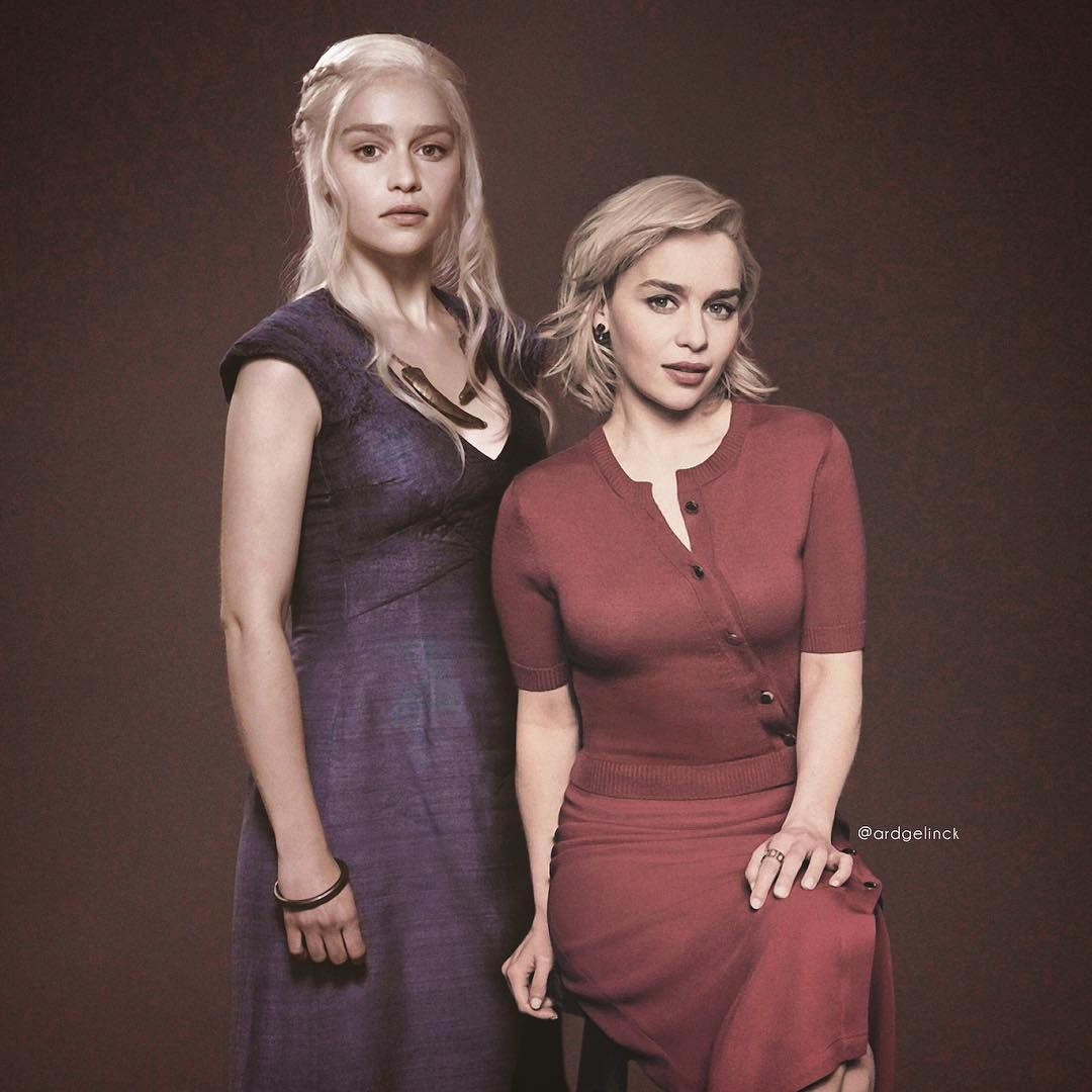 2 Can Play That Game Action Actors Together With One Of Their Famous Characters Emiliaclarke Daenerystar Actors Mark Hamill Foreign Celebrities