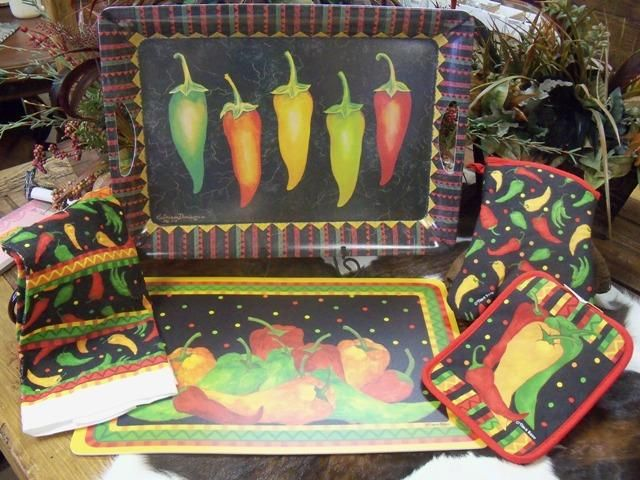 Chili Pepper Kitchen Items Caliente Decor
