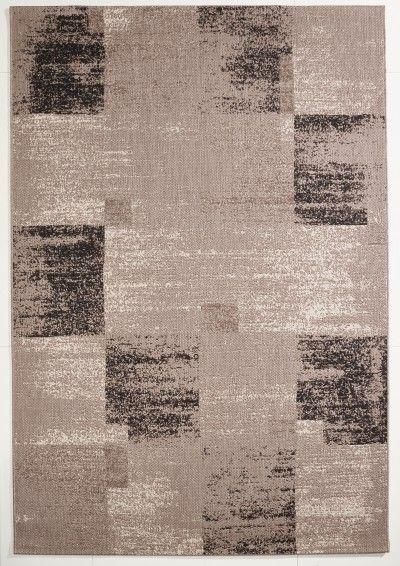 Vintage Teppich Grau gemustert 120x170 cm, Flachgewebe ...
