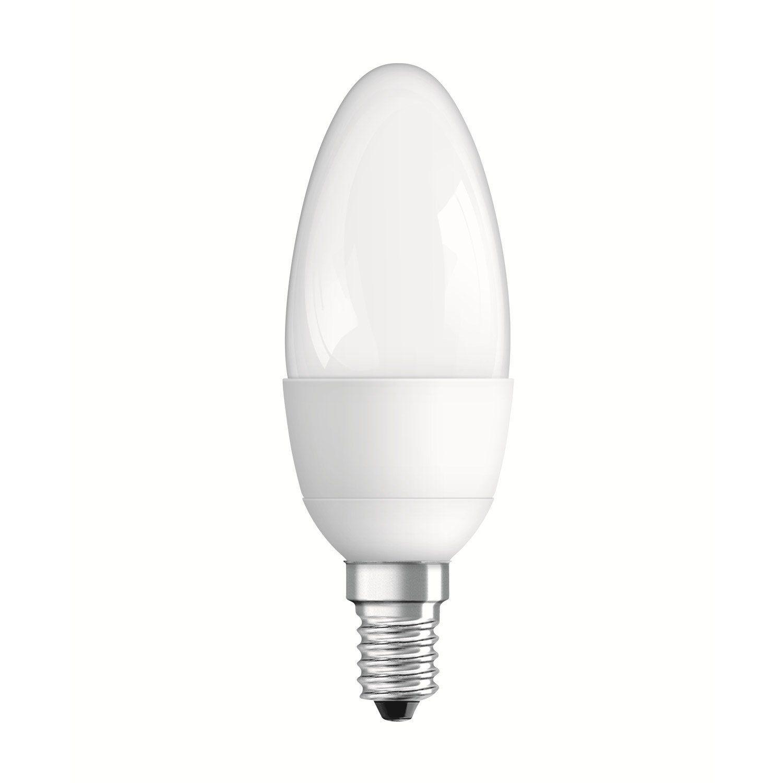 Ampoule Flamme Led 6w 470lm Equiv 40w E14 Compatible Variateur 2700k Osram Ampoule Flamme Ampoule Et Led