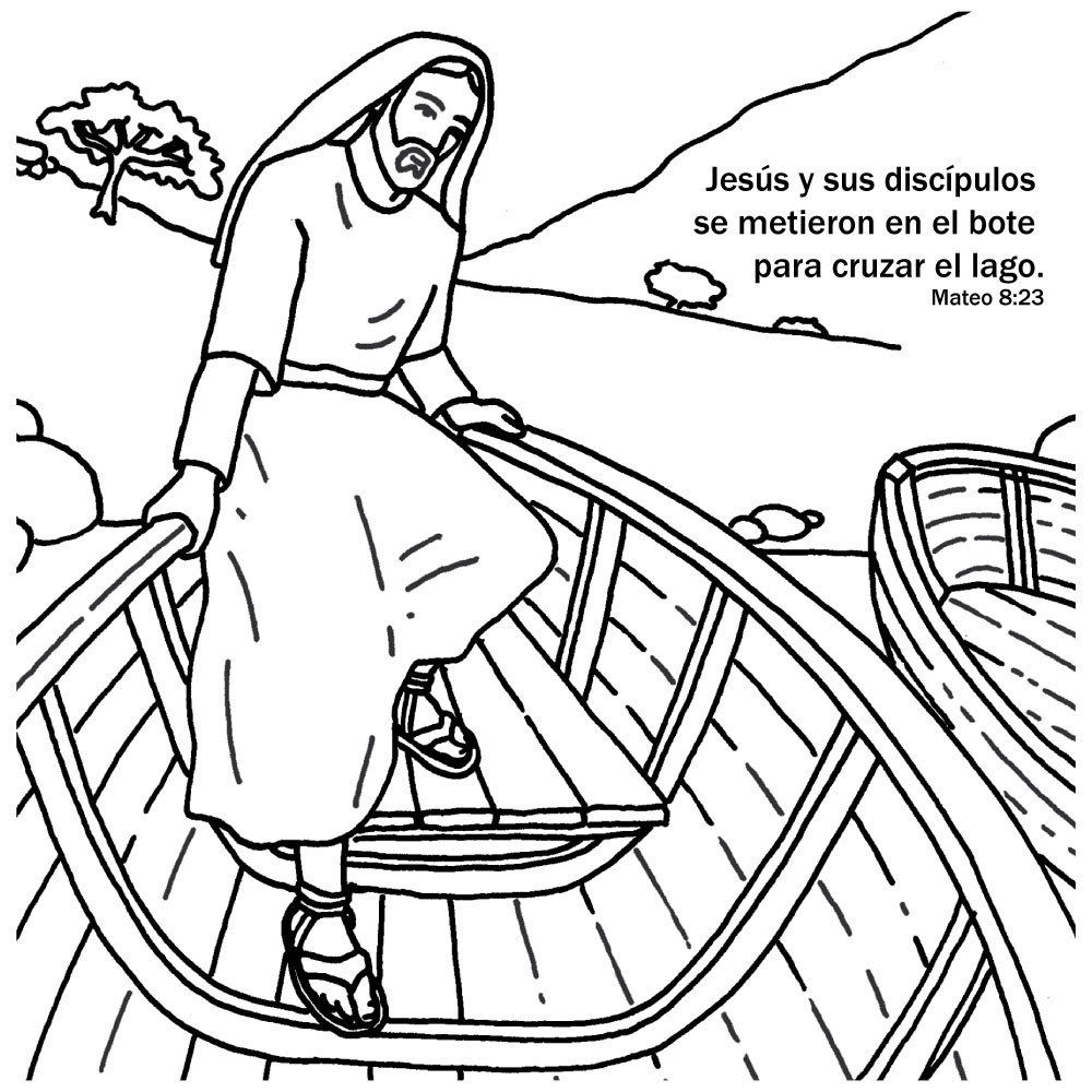 Jesus Calms The Storm Coloring Card Is A Craft Activity That Can Be Used To Teach Children This Story With Sunday School VBS
