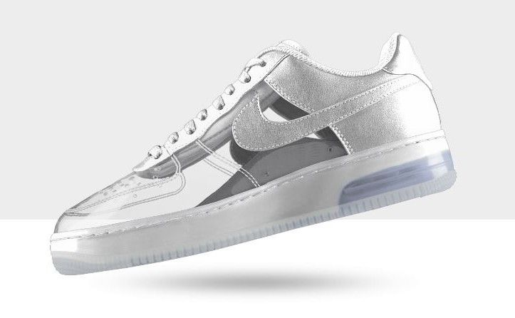 Nike Air Force 1 Invisible & Sparkle Patent Options