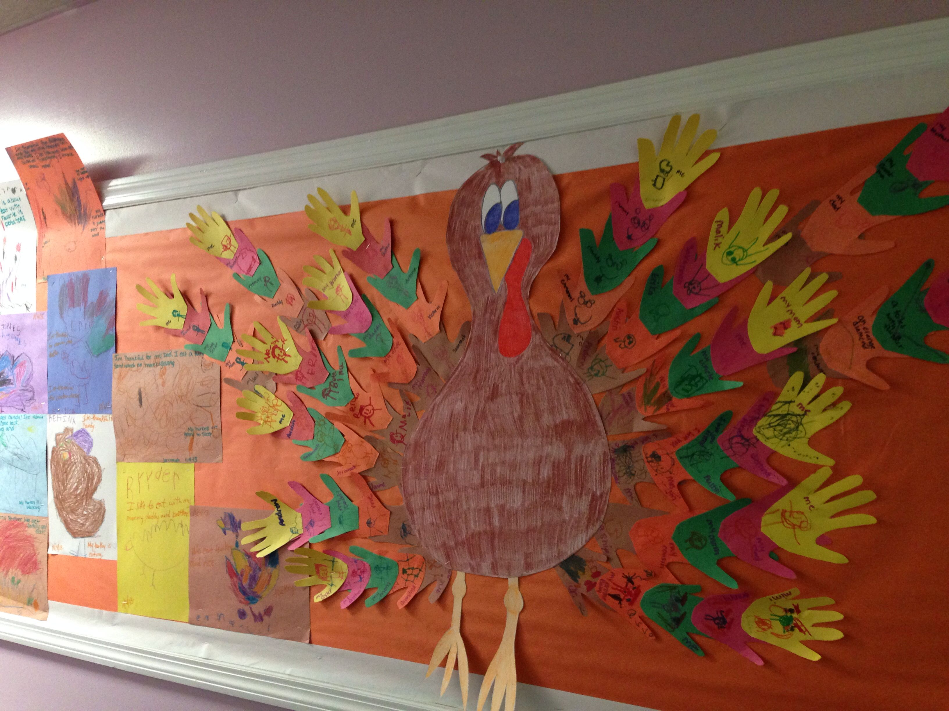Thanksgiving Turkey Handprint Feathers What Are You