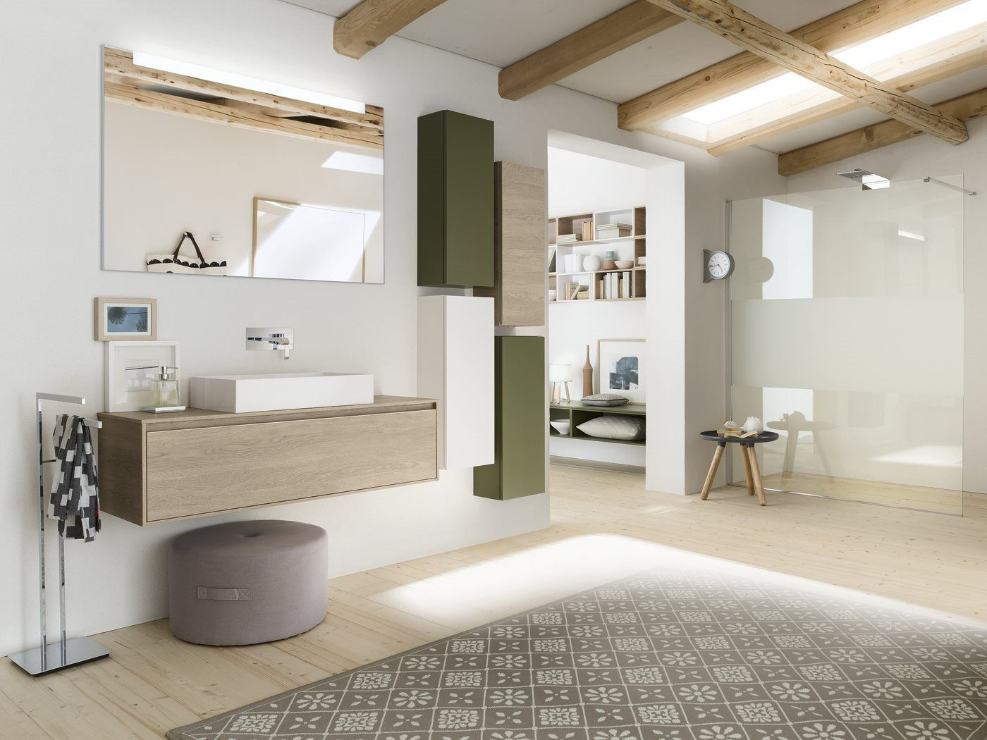 #Inda #PerfettoPlus #meuble #salledebain #green