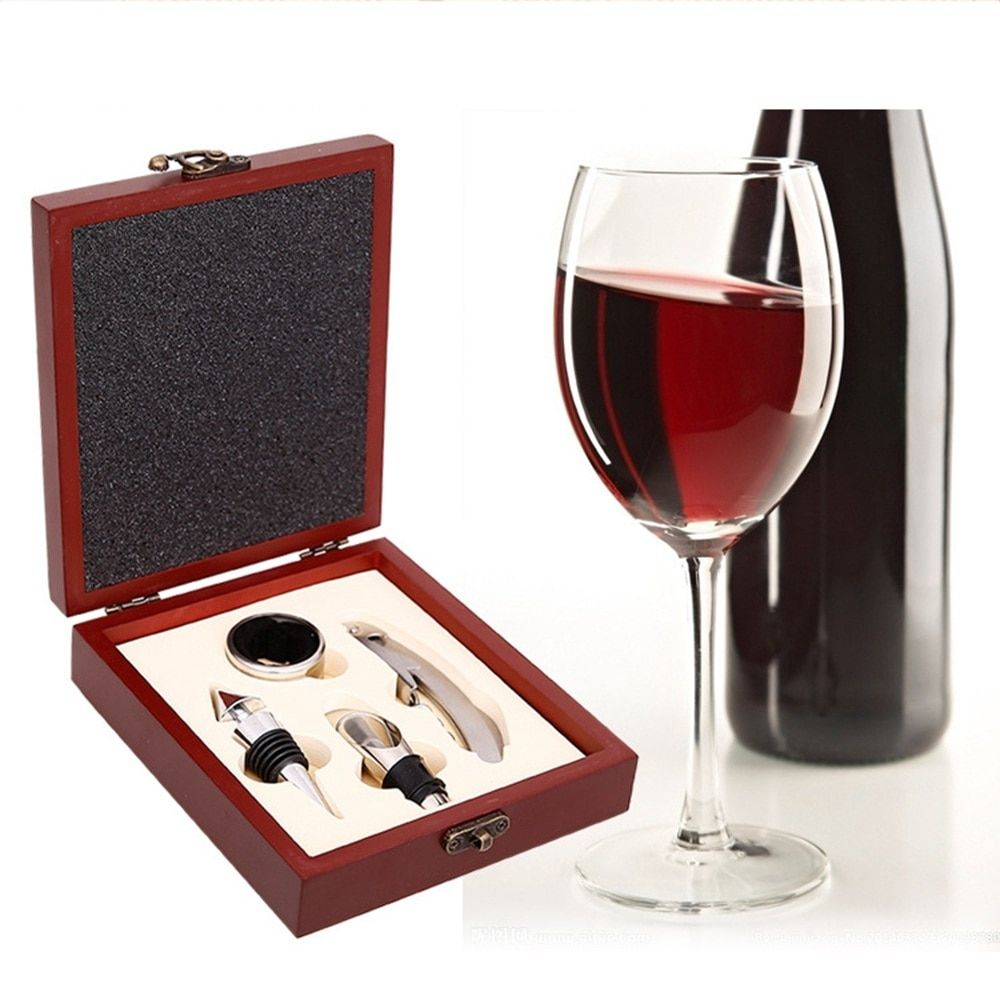 Wine Bottle Opener In Box Set 4pcs Met Afbeeldingen