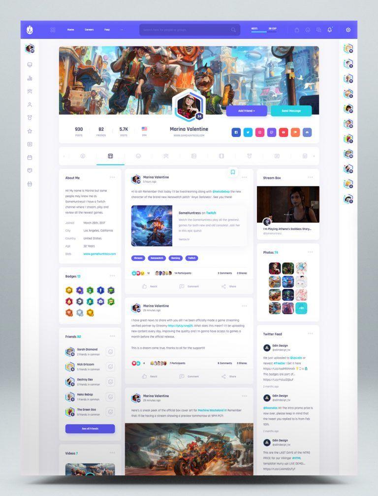 Pin On Html Website Templates Social media web templates