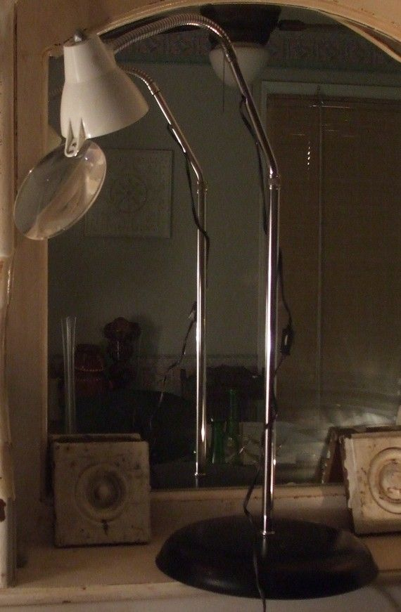 1960s Vintage Goose Neck Magnifier Floor Lamp by UmanThings, $70.00