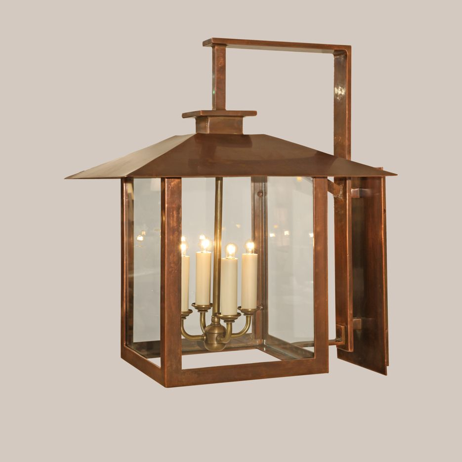 Sc square copper coventry bracketed lantern paul ferrante