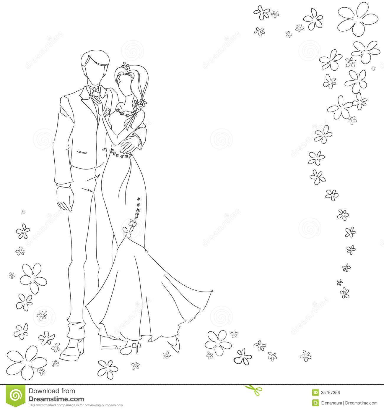 Kleurplaat Bruiloft Kleurplaten Thema Bruiloften Bruiloft