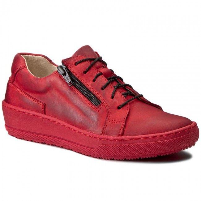 Sneakersy Wasak 0439 Czerwony 169zl Shoes Sneakers Top Sneakers