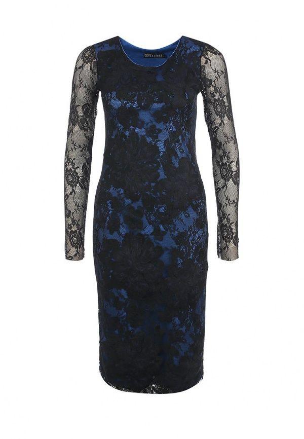 Платье Love & Light женское. Цвет: синий, черный. Сезон: Осень-зима 2013/2014. С бесплатной доставкой и примеркой на Lamoda. http://j.mp/WNaMwt