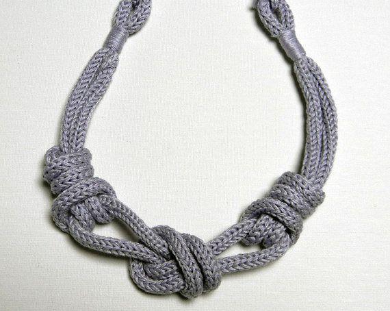 rivenditore all'ingrosso enorme inventario nuova versione Cording, rope, paracord Collana in filo di cotone con nodi ...