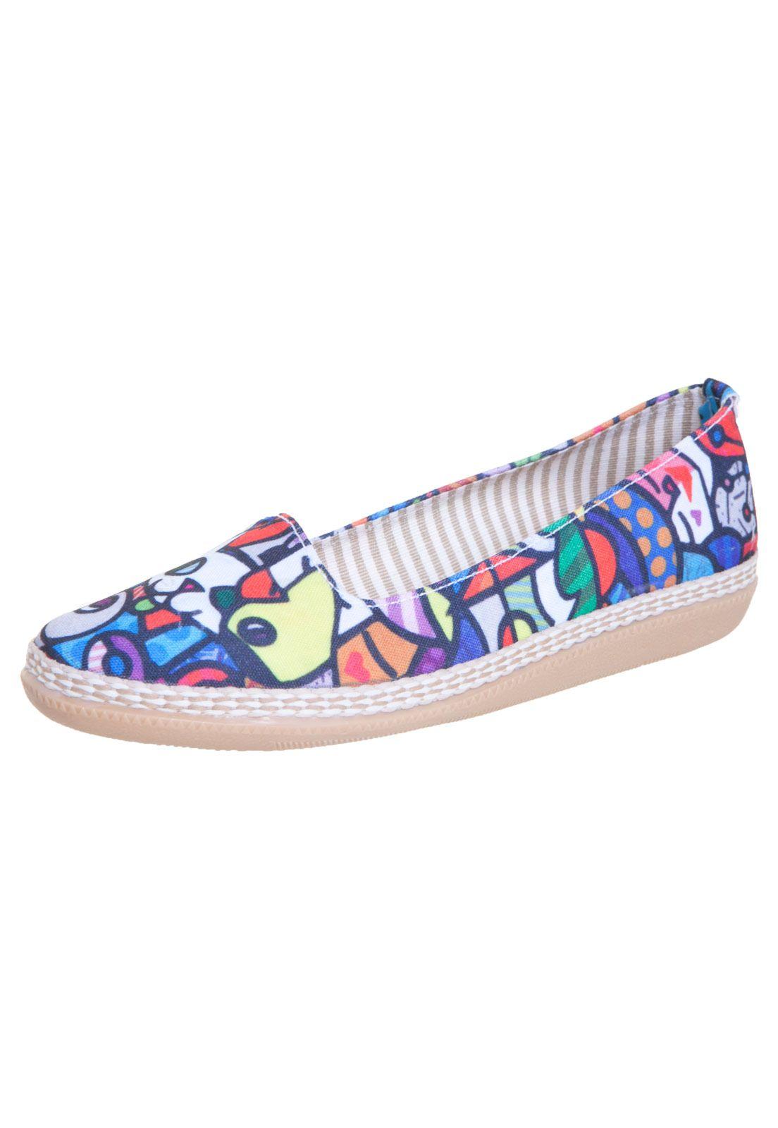 749a3bf240 Sapatilha FiveBlu Inspired Multicolorida - Compre Agora
