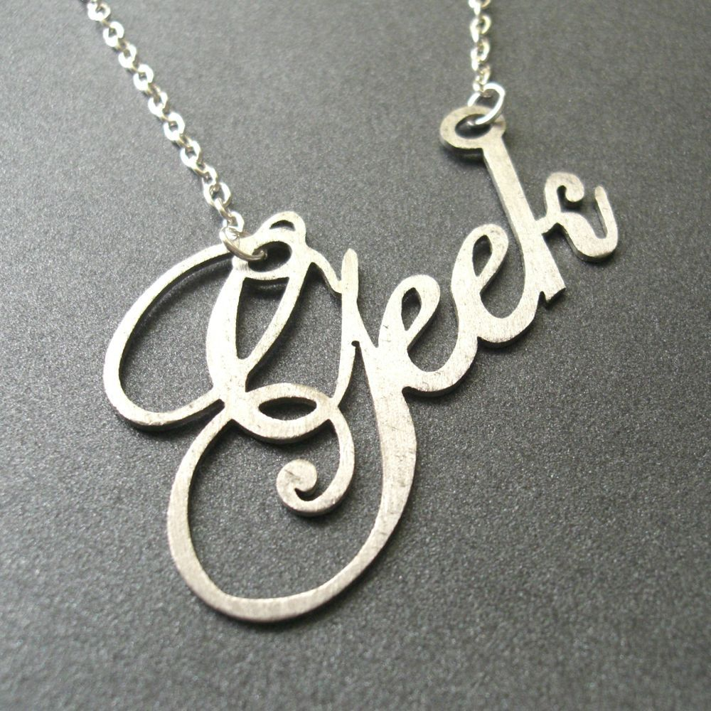 Do you have to wear two necklaces if you consider yourself a geek and a nerd?