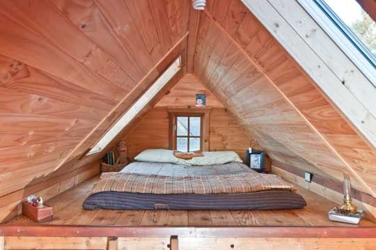 tiny loft bedroom one answer to the question how much does a tiny house cost