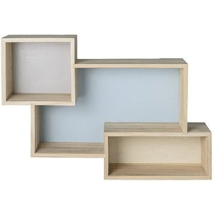 Bloomingville 3 in 1 Display Box - Sky Blue/Cool Grey/Nature