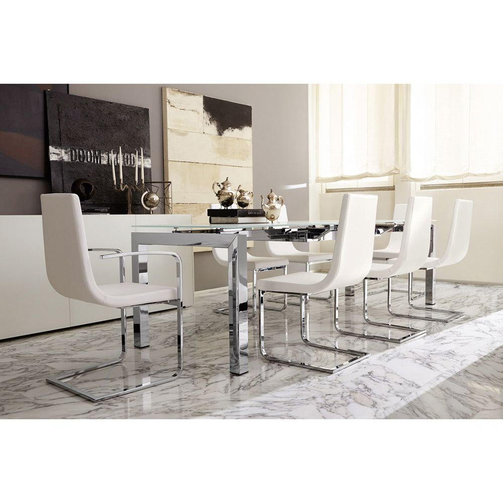 Superb Calligaris Cruiser Leather Armless Chair   Dine In Elegant Style And  Sumptuous Comfort With The Sleek, Sophisticated Calligaris Cruiser Leather  Armless ...