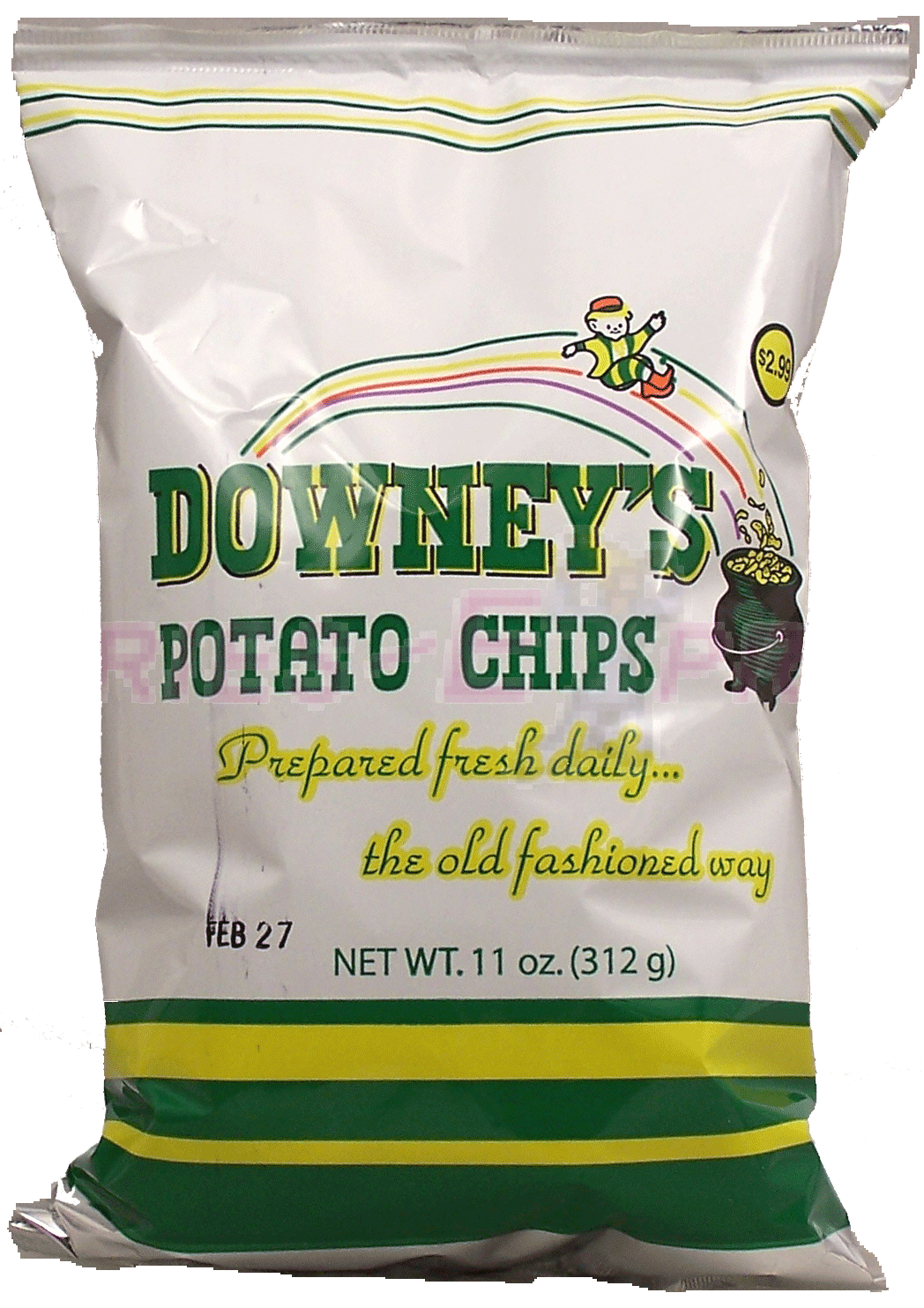 Downey S Potato Chips Are A Michigan Based Brand With An Irish Theme And Color Scheme As Evidenced By The Leprechaun Sliding Dow Potato Chips Chips Best Chips