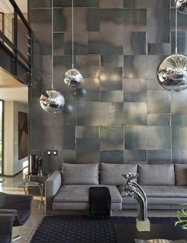 Decorate With Industrial Metal Walls Wall Design House