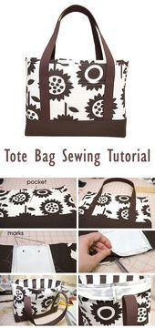 Photo of Tote Bag Sewing Tutorial  Tote Bag Sewing Tutorial   #bags #tutorial #sewing    …