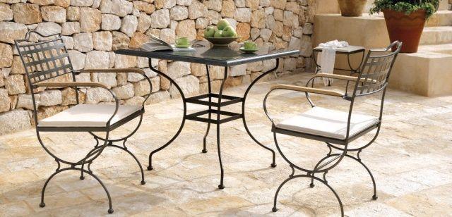 schmiedeeiserne stühle im mediterranen stil | stylecheck, Gartenmöbel