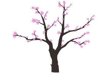 Cherry Blossom Tree Outline Blossom Design Cherry Tree