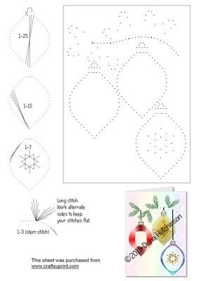 Revered image for free printable paper pricking patterns