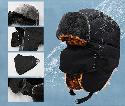 030f78ef0 Warm Unisex Klassische Trappermütze, Mysuntown Unisex Fliegermütze ...