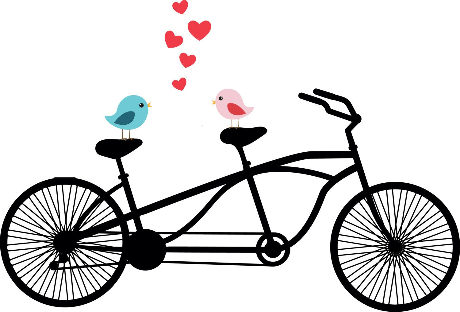 tandem bicycle clipart love birds wedding by thelilcliparts bici rh pinterest ca tandem bicycle clipart tandem bicycle clipart