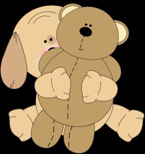 Puppy Hugging A Teddy Bear Clip Art Puppy Hugging A Teddy Bear Image Teddy Bear Images Bear Artwork Puppy Hug