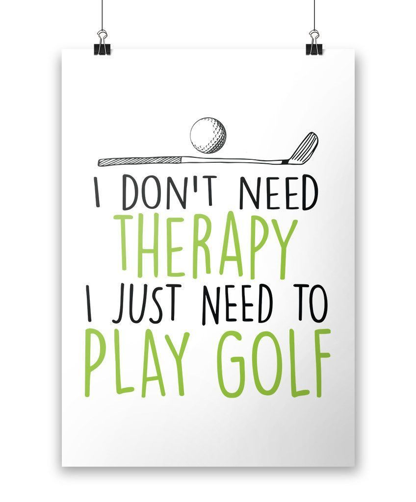 Golf Therapy - Poster #golfhumor