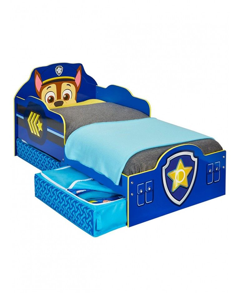 paw patrol chase toddler bed with storage | paw patrol | pinterest