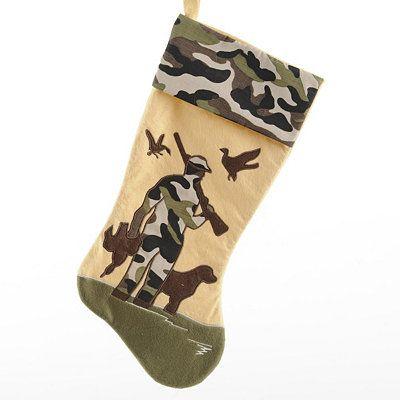 Camouflage Bird Hunting Christmas Stocking | Unique ...