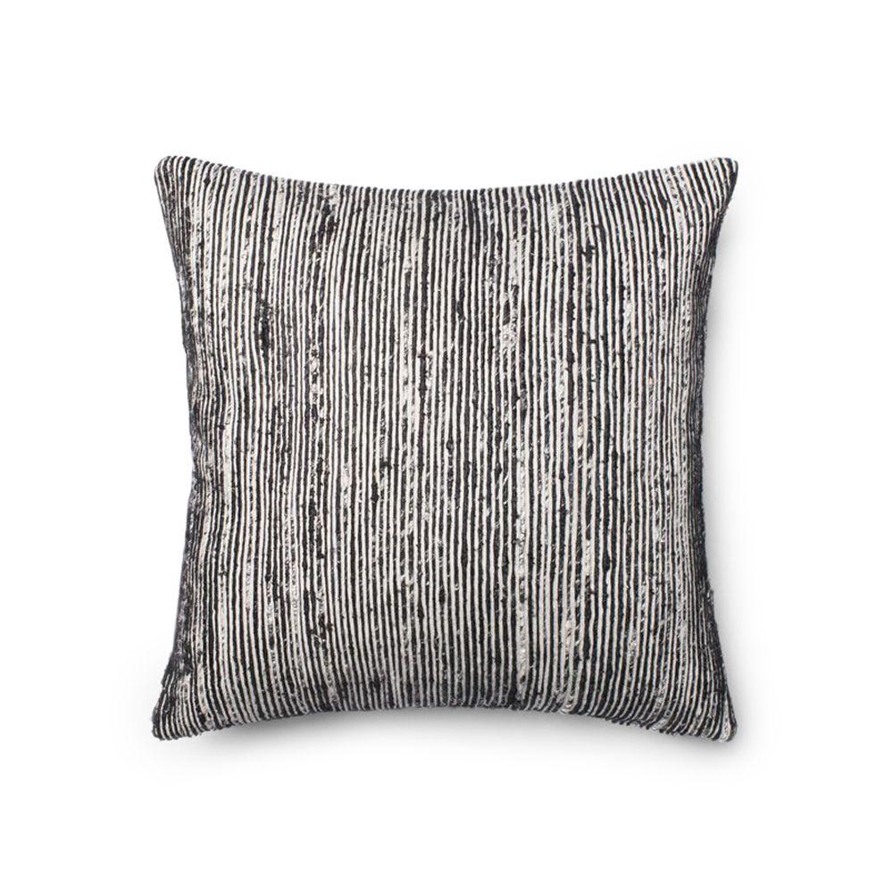 A cotton and silk blend accent pillow