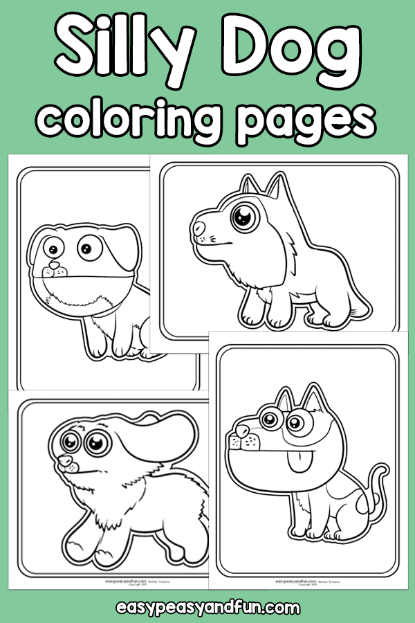 Silly Dog Coloring Pages Silly Dogs Dog Coloring Page Crafts Fir Kids
