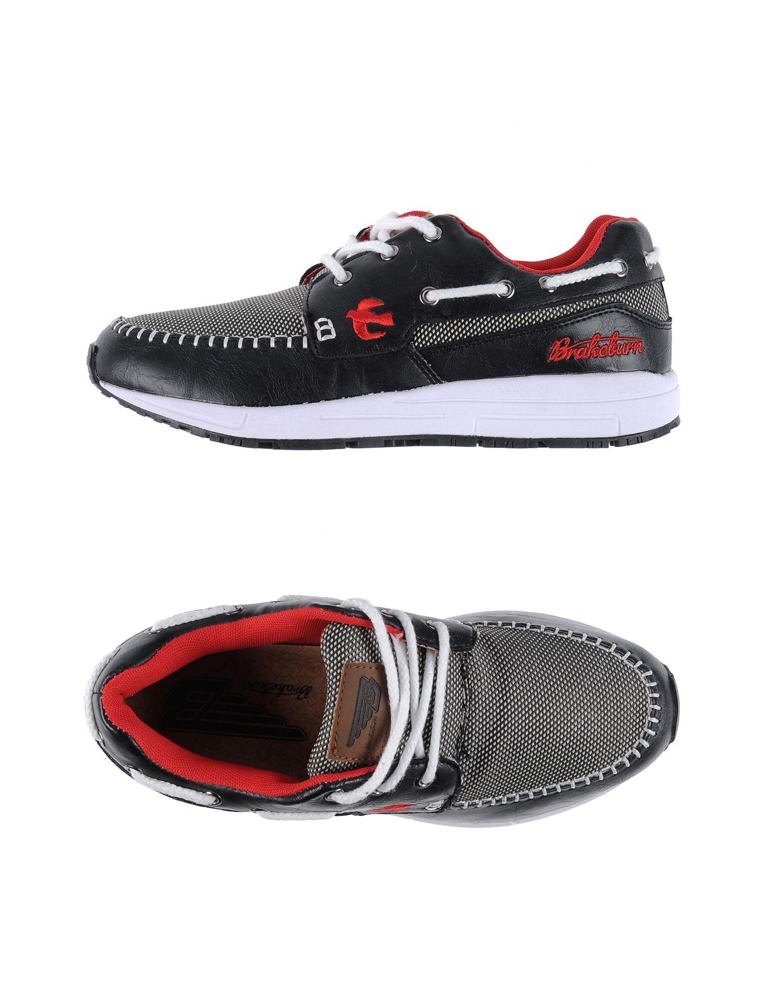 klassieke Brakeburn  low-tops herensneakers (zwart)