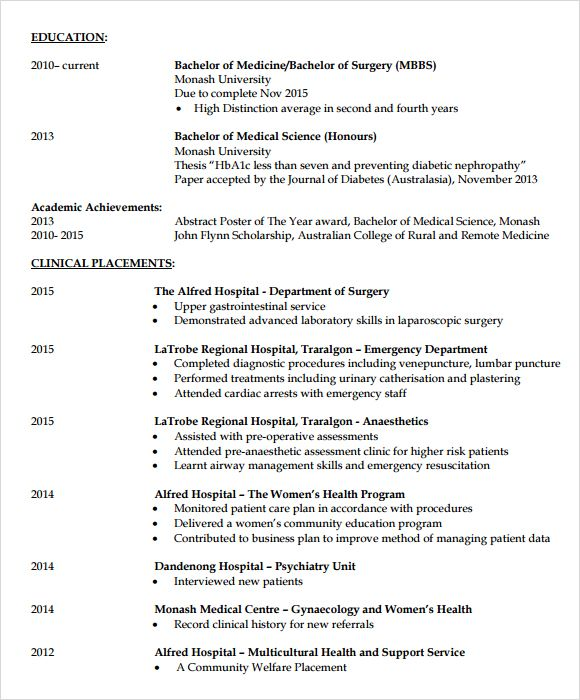 7 Doctor Resume Templates Download Documents In Pdf Psd Resume Templates Resume Resume Examples