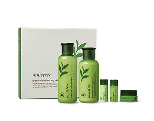 Innisfree Green Tea Balancing Skin Care Set For Normal To Combination Skin 1set 5pcs Skin Care Innisfree Combination Skin
