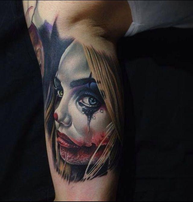 female clown tattoo tattoos pinterest clowns clown tattoo and tattoos and body art. Black Bedroom Furniture Sets. Home Design Ideas
