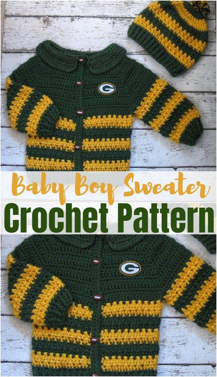 Photo of Free Crochet Baby Sweater Patterns –