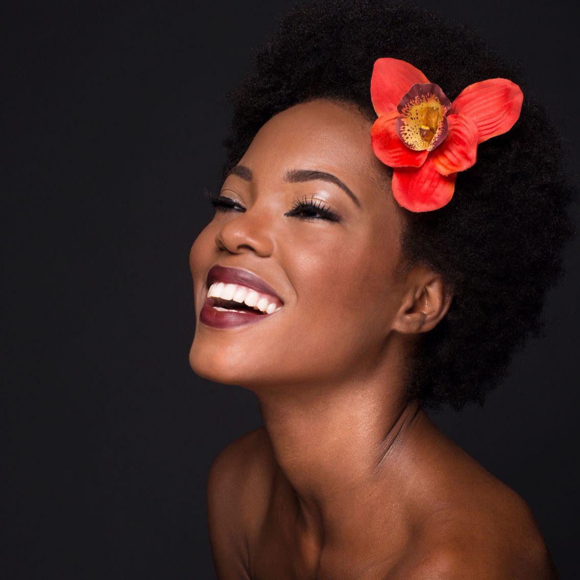 Natural hair, natural beauty, African American makeup