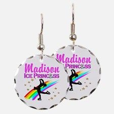 CUSTOM SKATER Earring Calling all Skaters! Enjoy our beautiful selection of Figure Skating Jewelry  http://www.cafepress.com/sportsstar/10189550 #Figureskater #FigureSkating #Iloveskating #Borntoskate #Personalizedskater #Skaterjewelry