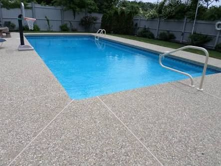 Image Result For Exposed Aggregate Around Pools Concrete Pool Pool Exposed Aggregate