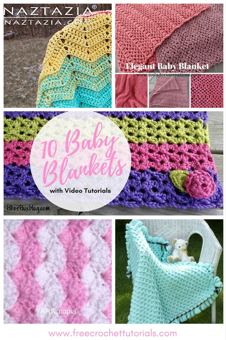 New Video Pattern Collection Just Added: 10 Baby Blankets with Video ...