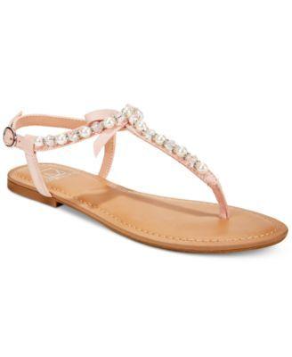 ff822fad2f8258 Material Girl Perlie T-Strap Flat Sandals